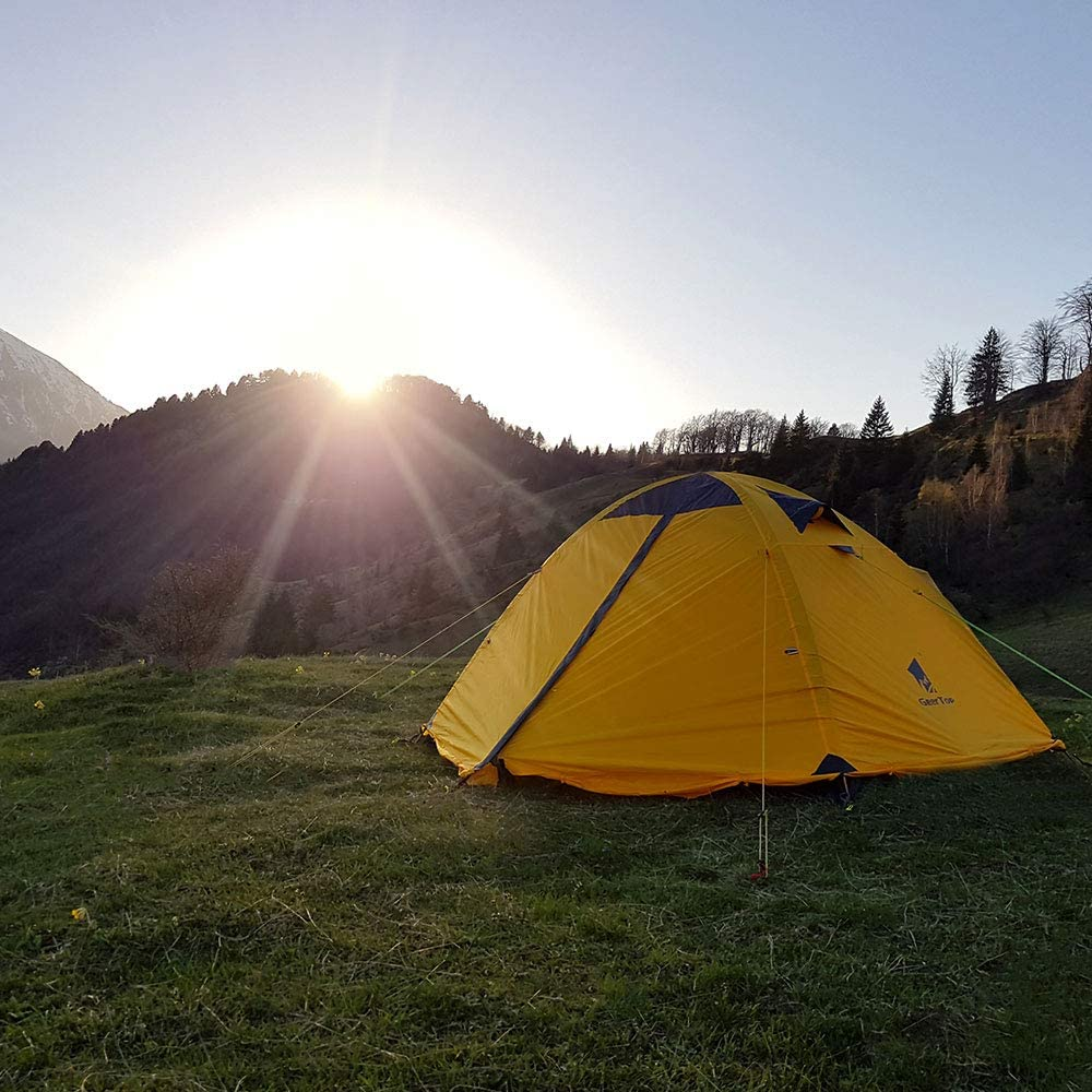 GEERTOP Backpacking Tent for 2 Person 4 Season Camping Tent Double Layer