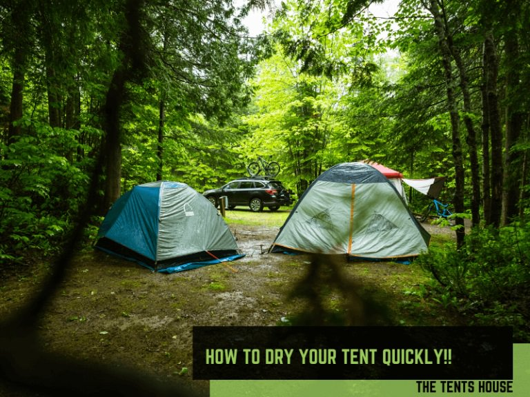 How to dry your tent quickly