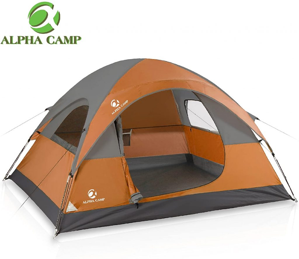 ALPHA Camp 3 Person Camping Dome Tent with Carry Bag