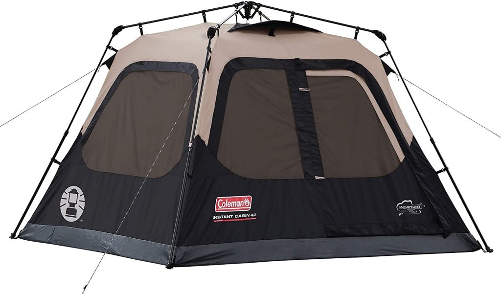 Coleman Cabin 4 person Tent with Instant Setup
