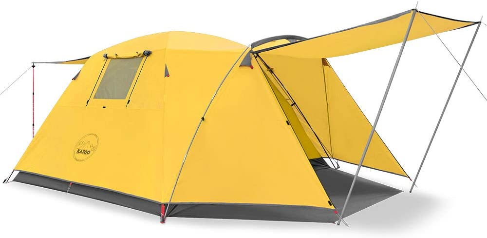 KAZOO Outdoor Camping Tent - Best 4 Person Tent with Porch